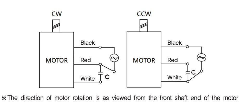 Sơ đồ đấu dây động cơ giảm tốc GGM 6 W K6IG6NC