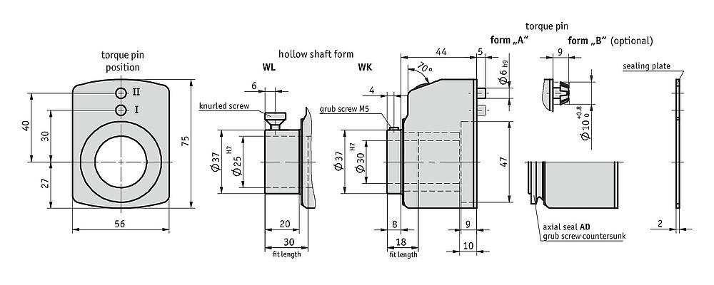 Bản vẽ kỹ thuật bộ chỉ thị vị trí số dạng cơ DA10